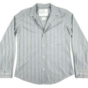 Frank & Eileen Barry Button Shirt Gray Striped L